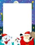 Cartoon christmas frame - space for text Stock Photos