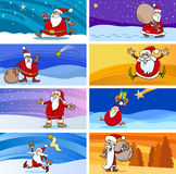Cartoon christmas greeting cards Royalty Free Stock Photo