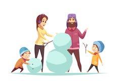Cartoon Christmas Illustration Royalty Free Stock Images