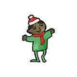 Cartoon christmas imp Stock Photography