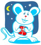 Cartoon christmas mouse Royalty Free Stock Photo