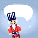 Cartoon christmas Nutcracker with blank Stock Images