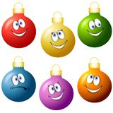 Cartoon Christmas Ornaments Royalty Free Stock Image