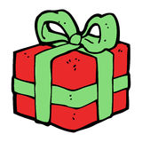 cartoon christmas present Stock Photography