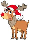 Cartoon Christmas reindeer Royalty Free Stock Photography