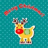 Cartoon Christmas reindeer Stock Photos