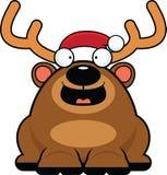 Cartoon Christmas Reindeer Happy Royalty Free Stock Photo