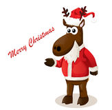 Cartoon Christmas reindeer Royalty Free Stock Images