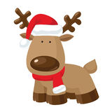 Cartoon christmas reindeer Royalty Free Stock Photos