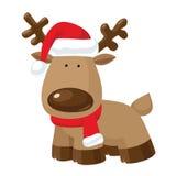 Cartoon christmas reindeer Royalty Free Stock Photos