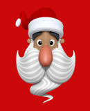 Cartoon Christmas Santa Claus character head Royalty Free Stock Photo