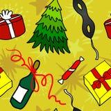Cartoon Christmas seamless pattern. Cartoon Christmas beautiful seamless pattern for your design stock illustration