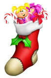 Cartoon Christmas Stocking Royalty Free Stock Photography