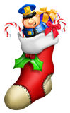 Cartoon Christmas Stocking Stock Image