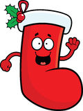 Cartoon Christmas Stocking Happy Stock Image