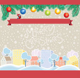 Cartoon Christmas Template Royalty Free Stock Photos