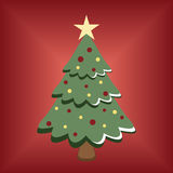 Cartoon Christmas tree Royalty Free Stock Photo