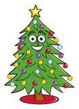 Cartoon Christmas Tree Royalty Free Stock Photos