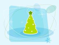 Cartoon Christmas tree. Vector art Stock Image