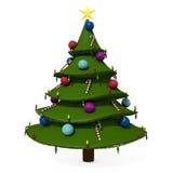 Cartoon Christmas Tree Royalty Free Stock Photo