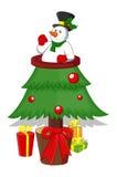 Cartoon Christmas Tree Stock Image