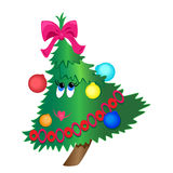 Cartoon christmas tree illustration Royalty Free Stock Photos