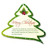 Cartoon Christmas Tree. Vector Stock Image