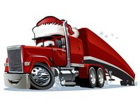 Cartoon Christmas Truck. Isolated on white background. Available EPS-10 format separated by groups and layers for easy edit Royalty Free Stock Image