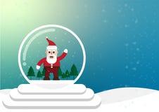 cartoon christmas and winter season vector illustration