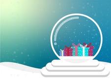 cartoon christmas and winter season royalty free illustration