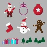 cartoon christmas and winter season isolate stock illustration