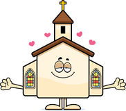 Cartoon Church Hug Stock Image
