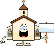 Cartoon Church Sign Royalty Free Stock Photos