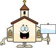 Cartoon Church Sign Royalty Free Stock Photos