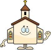 Cartoon Church Waving Stock Photo