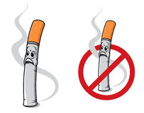 Cartoon cigarette Stock Images