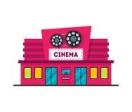 Cartoon Cinema Building. Vector Royalty Free Stock Image