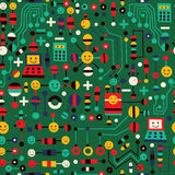 Cartoon circuit board Stock Images