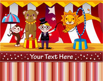 Cartoon circus card Royalty Free Stock Photo