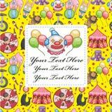 Cartoon circus card Royalty Free Stock Image