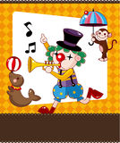 Cartoon circus card Royalty Free Stock Photography