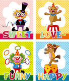 Cartoon circus card Royalty Free Stock Image
