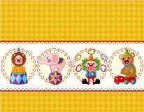 Cartoon circus card Royalty Free Stock Photos