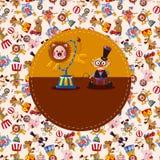 Cartoon circus card Stock Photos