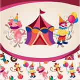 Cartoon circus card Stock Photography