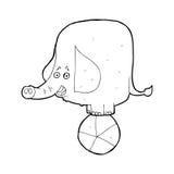 Cartoon circus elephant Stock Photos