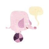 Cartoon circus elephant with speech bubble Royalty Free Stock Photography