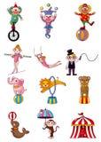 Cartoon circus icon. Vector drawing Stock Photography