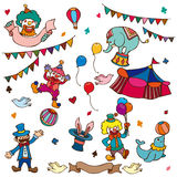 Cartoon circus icon stock illustration