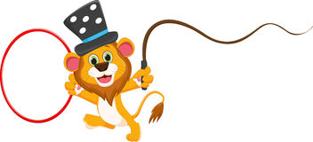 Cartoon circus lion Royalty Free Stock Image